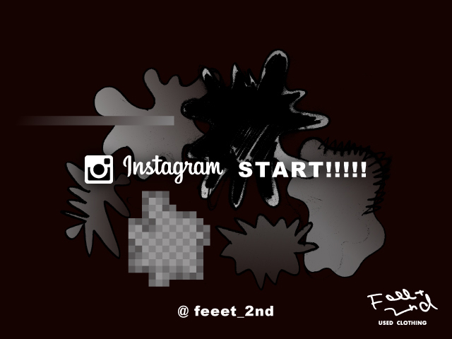 Instagram START!!!!! @feeet_2nd