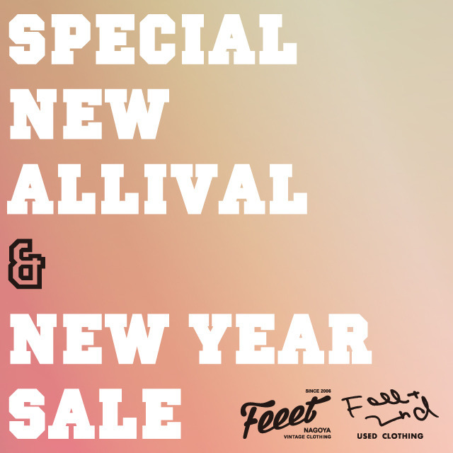 Feeet/Feeet 2nd「SPECIAL NEW ALLIVAL & NEW YEAR SALE」2017