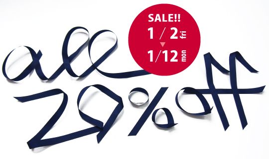 SALE!!  2015.1.2-1.12  all20%off