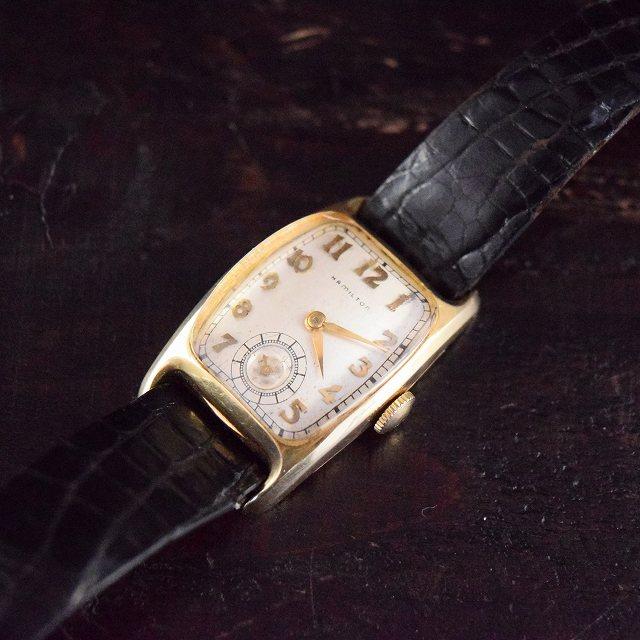 on sale 8b1d5 38f6f 40's HAMILTON Boulton 14K 手巻き腕時計